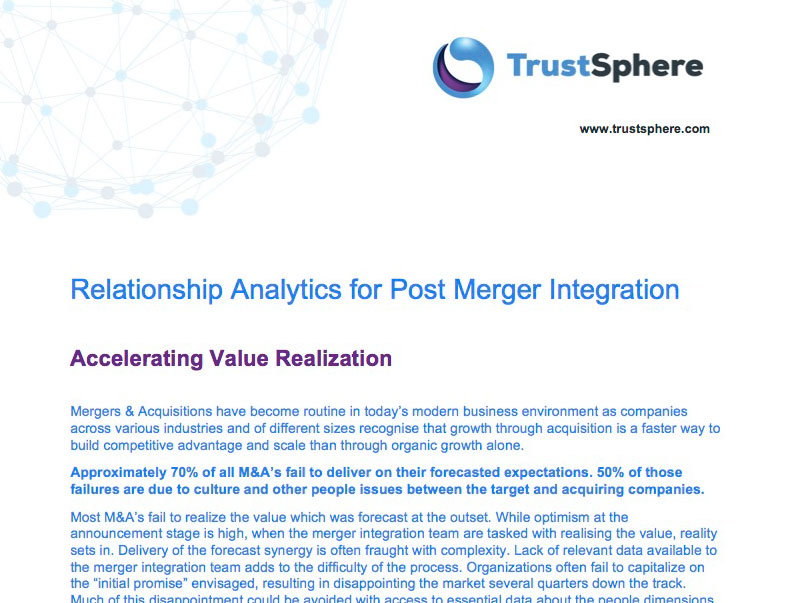 Data-Driven Change Management And M&A - TrustSphere