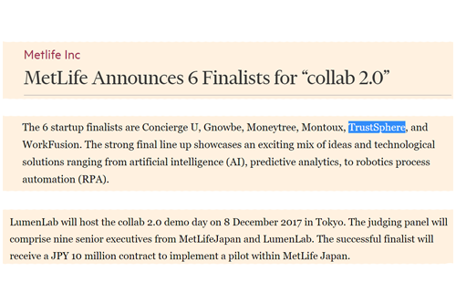 """MetLife Announces 6 Finalists for """"collab 2.0"""""""